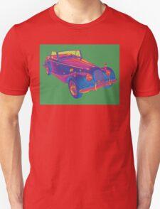 1964 Morgan Plus 4  Green and Blue Pop Art T-Shirt