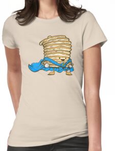 Captain Pancake Womens Fitted T-Shirt