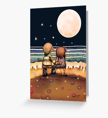 the stars, the moon and the tide Greeting Card