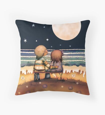 the stars, the moon and the tide Throw Pillow