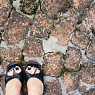 Black heels on the bricks by fourthangel