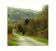 The top lane to Combe Martin Art Print