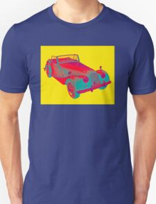1964 Morgan Plus 4 Convertible Sports Car Pop Art T-Shirt