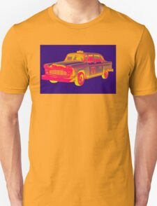 Checkered Taxi Cab Pop Art T-Shirt