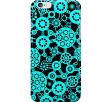 Ecosystem - Cyan and Black iPhone Case/Skin