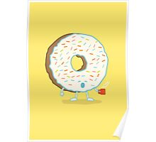 The Sleepy Donut Poster