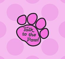 Dog Trail, Talk to the Paw - Pink Black by sitnica