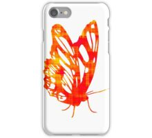 Red & Gold Butterfly iPhone Case/Skin