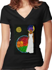 Passage of Time Women's Fitted V-Neck T-Shirt