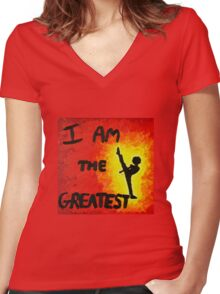 I Am the Greatest Women's Fitted V-Neck T-Shirt