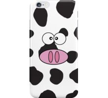 Cow Face, Cow Nose, Cow Spots - Pink Black White iPhone Case/Skin