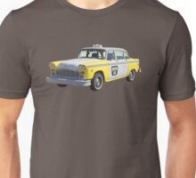 Yellow and White Checkered Taxi Cab Unisex T-Shirt