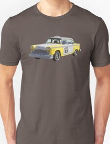 Yellow and White Checkered Taxi Cab T-Shirt