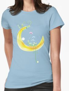 Cartoon moon and flowers T-Shirt