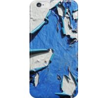 Blue-White Abstract iPhone Case/Skin