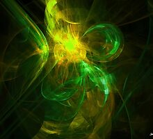 Alien Code 3 Yellow Green by Christopher Johnson