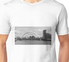 """The Clyde Arc """"The Squinty Bridge""""  Black and White Unisex T-Shirt"""