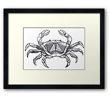 Geometric Cancer Crab Framed Print