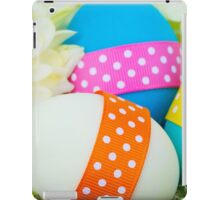 Painted Easter Eggs, Ribbons, Dots, Flowers iPad Case/Skin