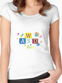 WASD Move me  Women's Fitted Scoop T-Shirt