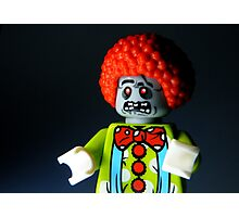 Lego Zombie Clown Photographic Print