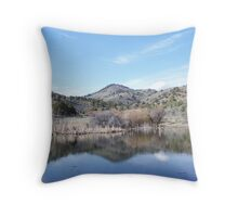 Cottonwood Buttes Reflection Throw Pillow