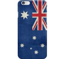 The National flag of Australia, retro textured version (authentic scale 1:2) iPhone Case/Skin
