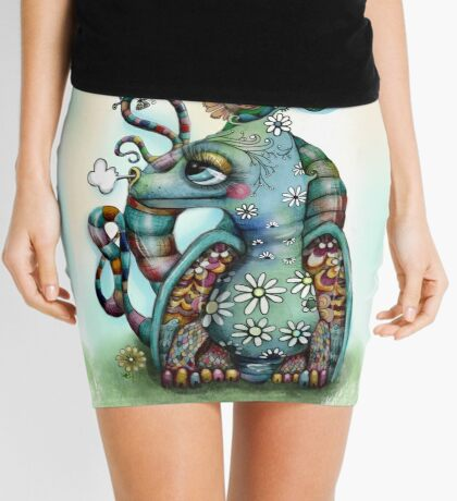 Misty the Friendly Rainbow Dragon Mini Skirt