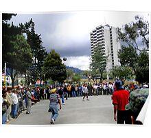 Volleyball In Quito, Ecuador Poster
