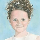 Portrait of a young girl by ian osborne