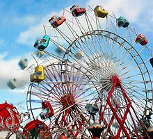 Let's Ride The Aladin Again - Fryeburg Fair by T.J. Martin