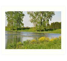 Private Pond near Cadiz, IN Art Print