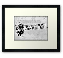 Fortune Cookie Series: Charge Ahead Framed Print