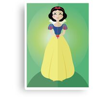 Symmetrical Princesses: Snow White Canvas Print