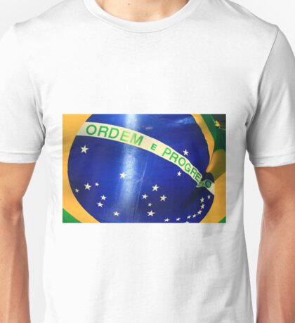 Brazilian Flag with Sun Behind. Unisex T-Shirt