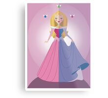 Symmetrical Princesses: Sleeping Beauty Metal Print