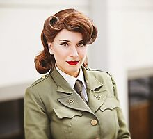 Tanya Wheelock as Peggy Carter (15.1 - Photography by Trent Thornton, with Additional Editing by Tascha Dearing) by mostdecentthing