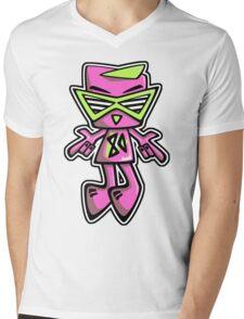 Eighties Mascot Mens V-Neck T-Shirt