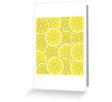 Lemon Slices Background Greeting Card