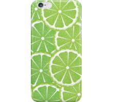 Lime Slices Background 2 iPhone Case/Skin