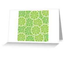 Lime Slices Background 2 Greeting Card