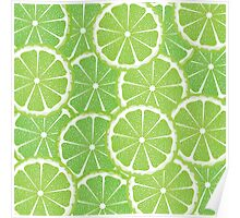 Lime Slices Background 2 Poster