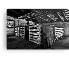 Old Sheep Pen b&w Metal Print