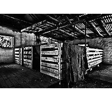Old Sheep Pen b&w Photographic Print