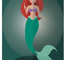 Symmetrical Princesses: Ariel by Jennifer Mark