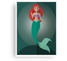Symmetrical Princesses: Ariel Canvas Print