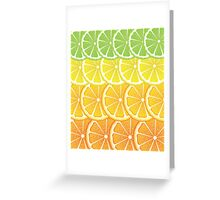 Various Citrus Slices Greeting Card