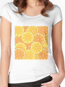 Various Citrus Slices 2 Women's Fitted Scoop T-Shirt