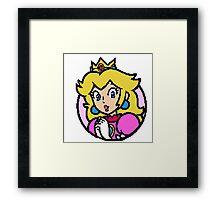 Peach - pixel art Framed Print