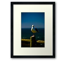 A Fence Post Layover Framed Print